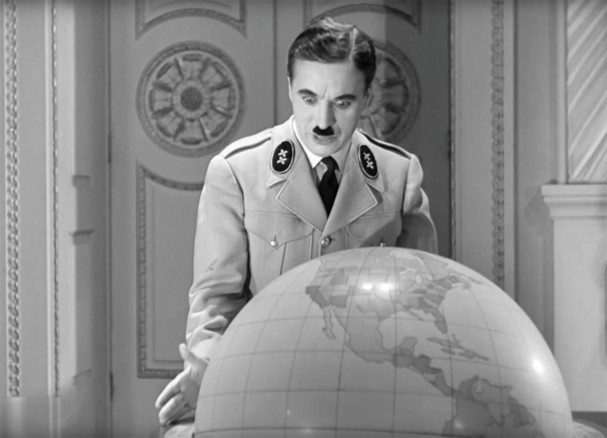"Charlie Chaplin in ""The Great Dictator"" (1940)"