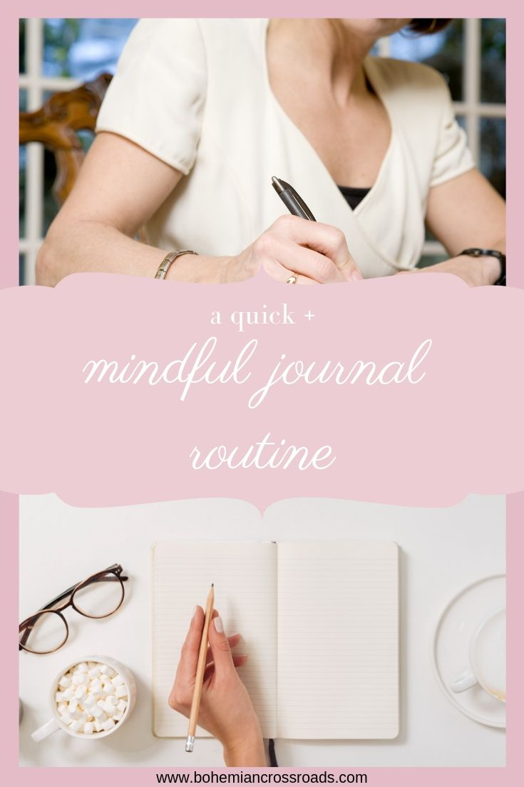 mindful journal routine