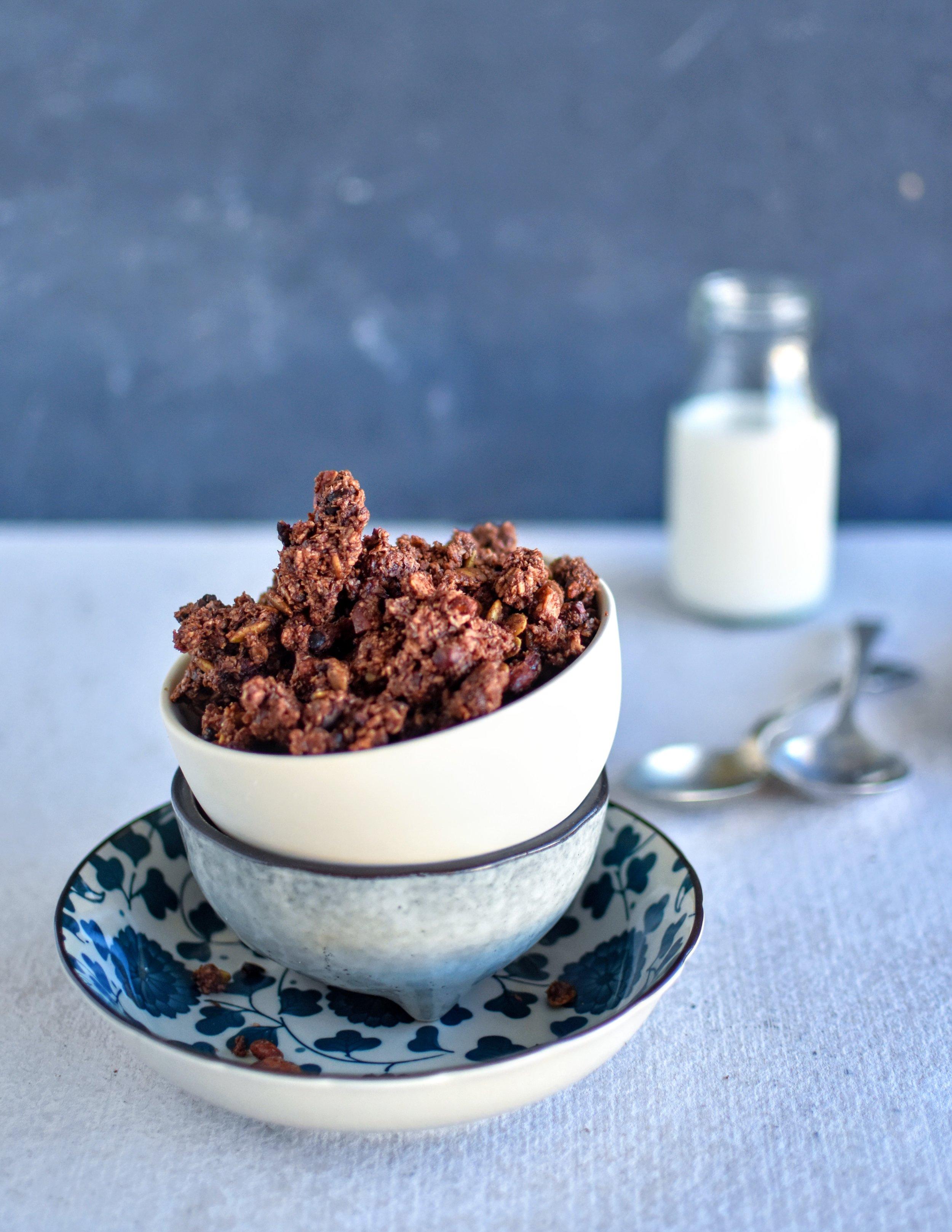 CHOCOLATE + GOJI GRANOLA
