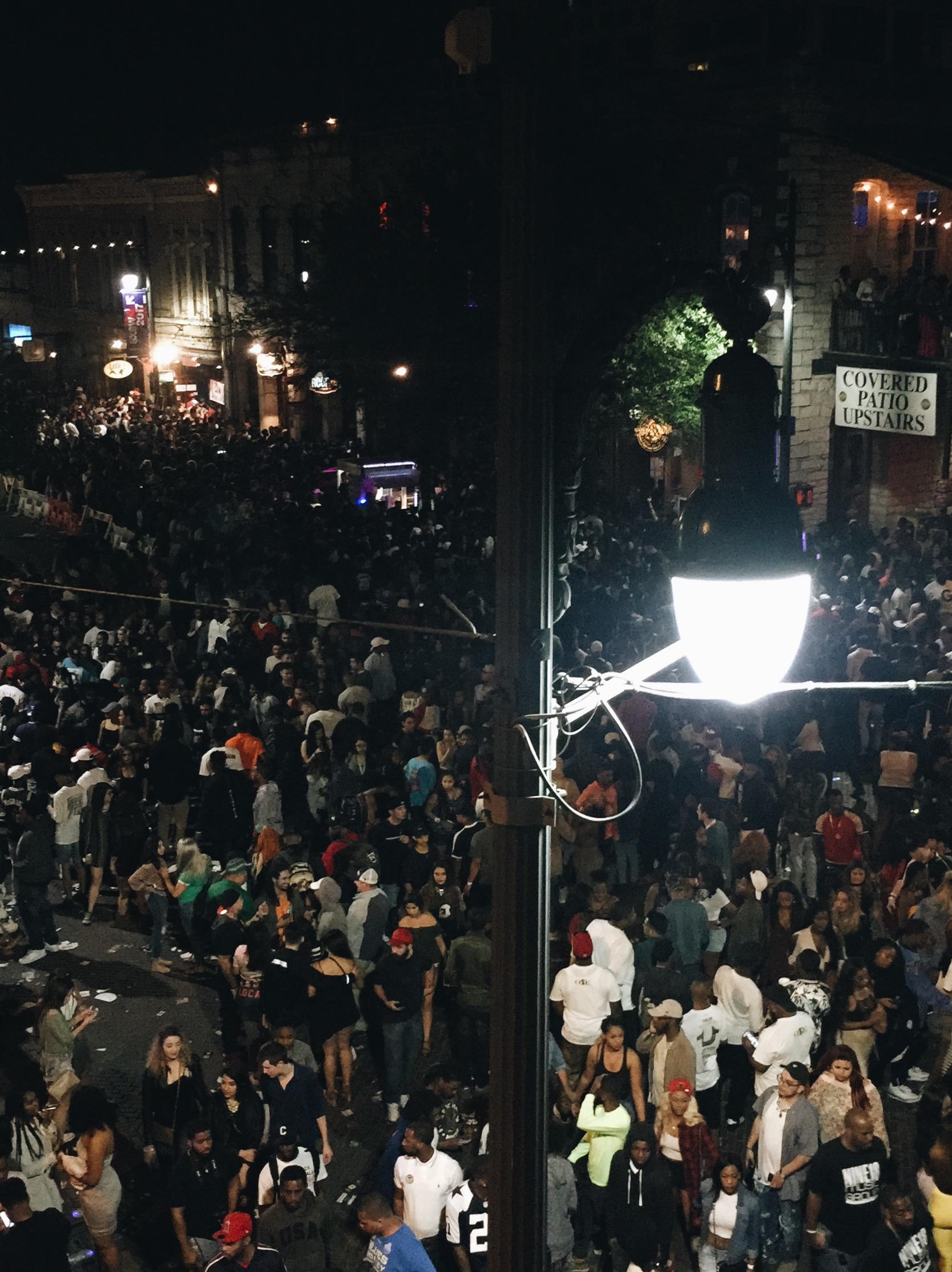 SIXTH STREET // From the balcony