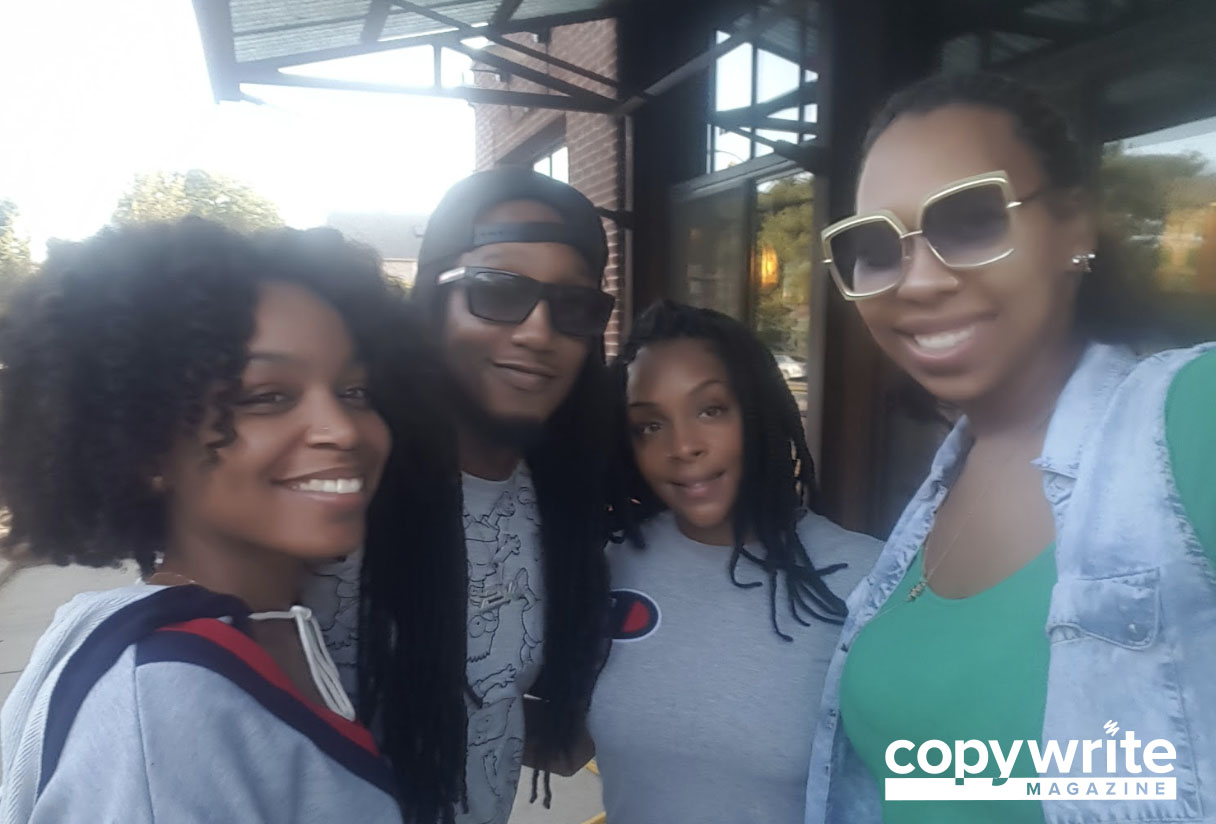 Carrie (CW journalist), DJ Nu Stylez, Jazzaveli, and Lexi (Editor-in-Chief of CW)