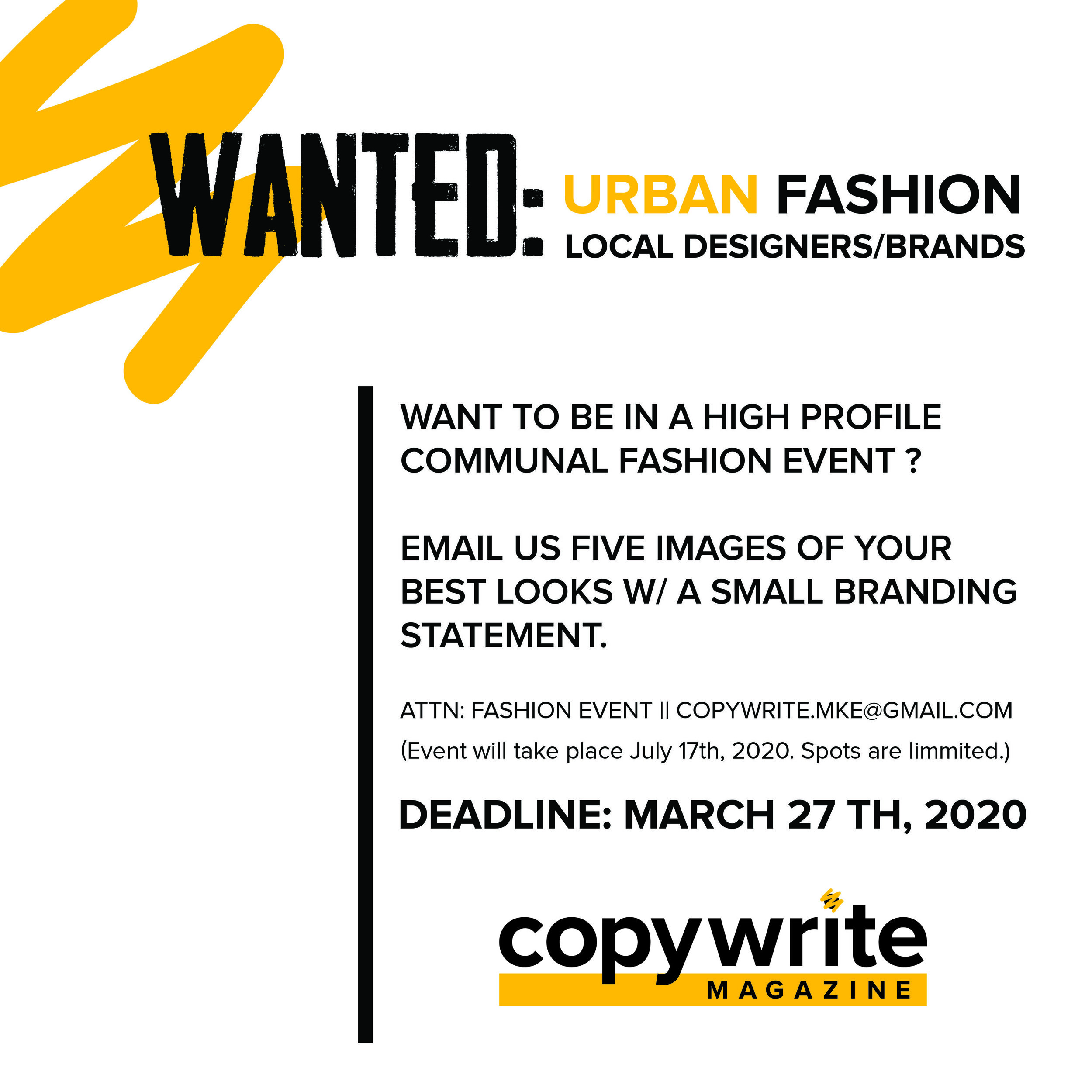 You Are Wanted Local Fashion Designers Brands Food Trucks Creative Vendors Copywrite Magazine