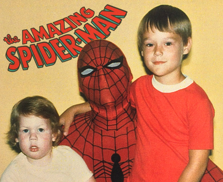 Jason and his little brother, Shaun, met the  real  Spider-man in 1980 at Toy City.