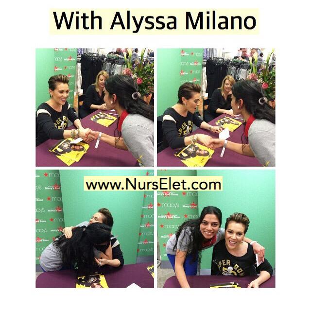 Rupal meeting Alyssa Milano