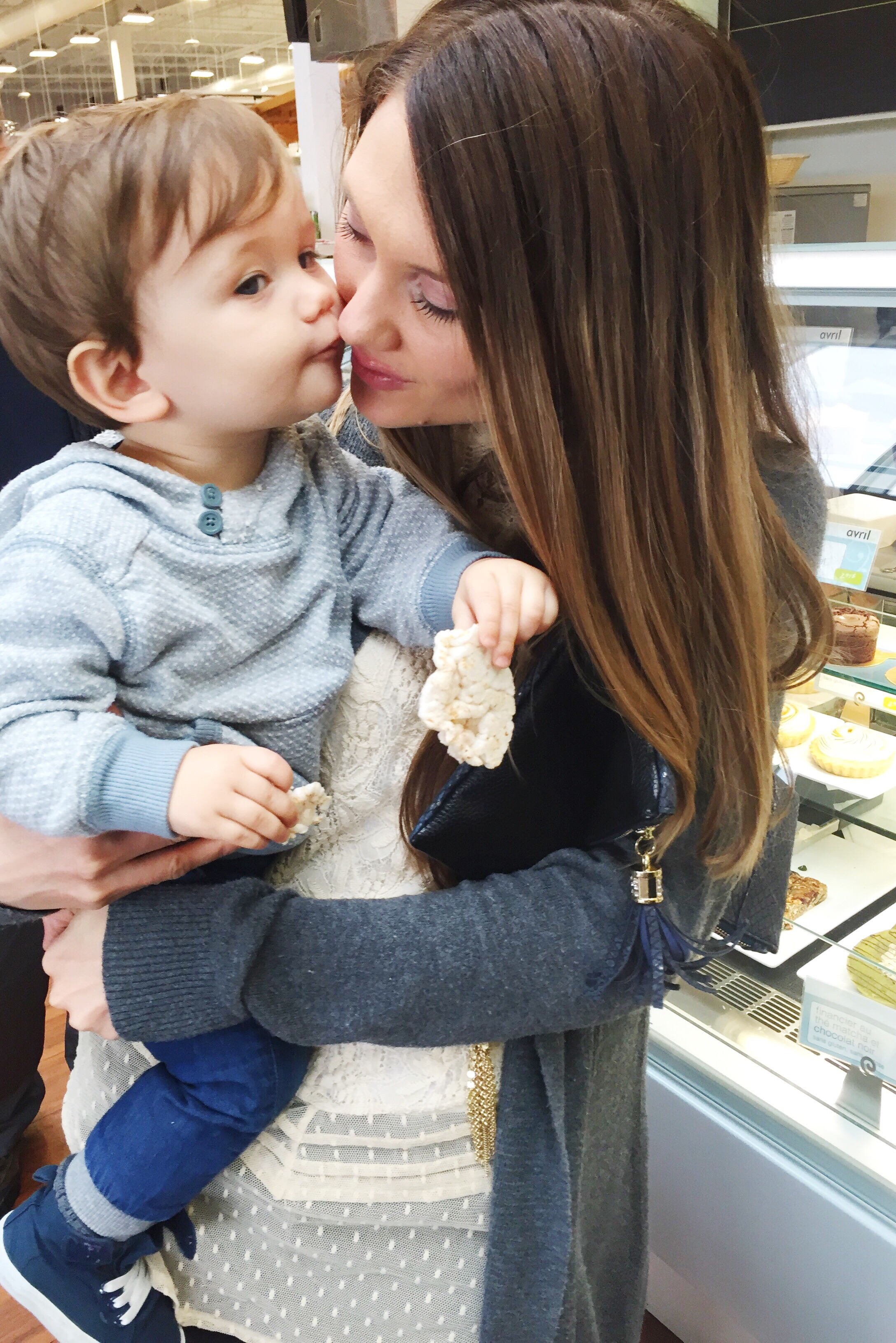 Best gift - Owen's been learning to give kisses!