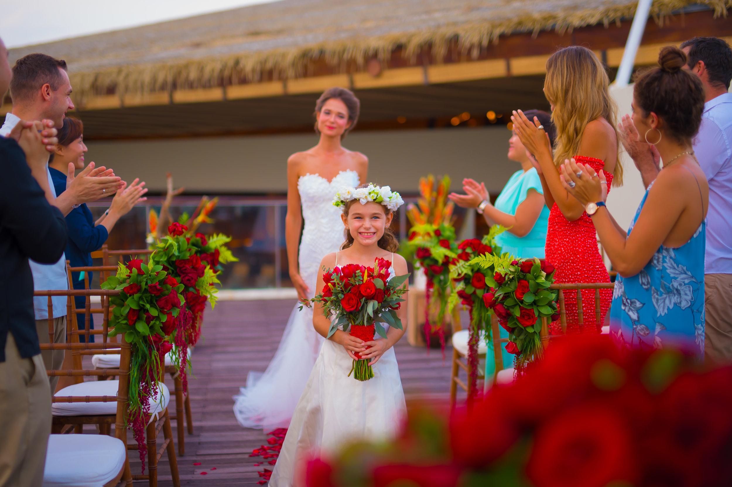Sheraton Bali - Bene Rooftop - Bride walking down the aisle.jpg