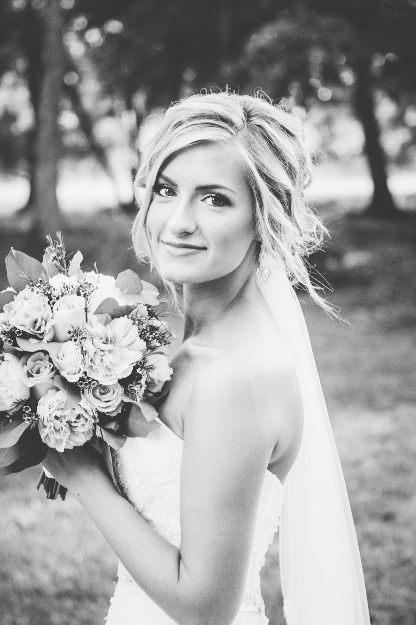 Bridal portrait. Josh + Alora | Classic Denham Springs Wedding. Photos by Christi Childs with The Picture People LA photography Baton Rouge, Louisiana