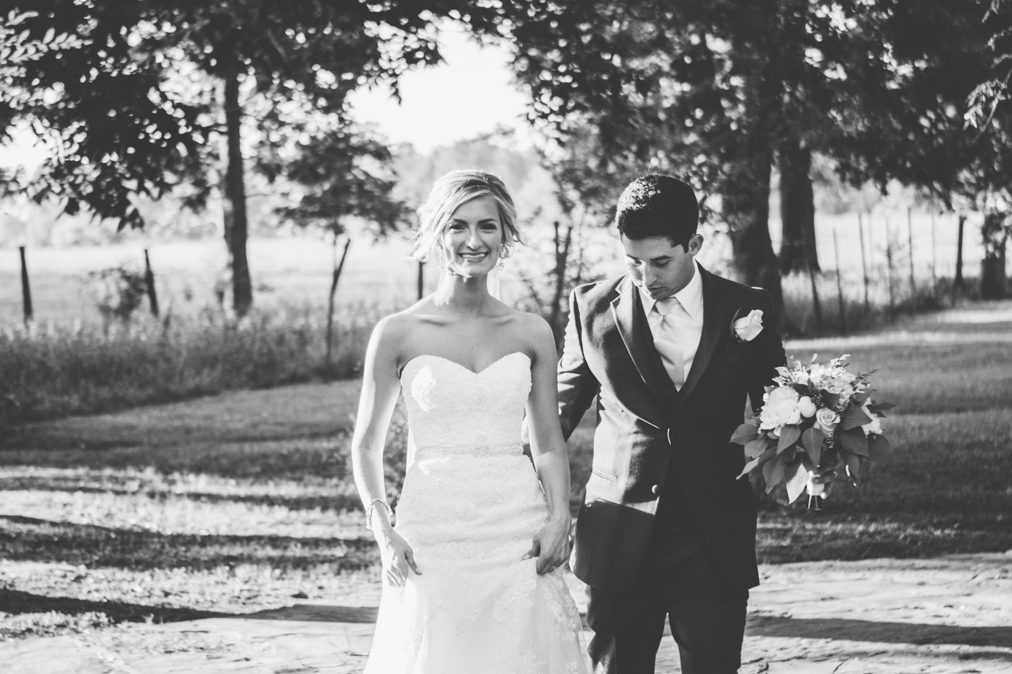 Candid bride and groom shot. Josh + Alora | Classic Denham Springs Wedding. Photos by Christi Childs with The Picture People LA photography Baton Rouge, Louisiana