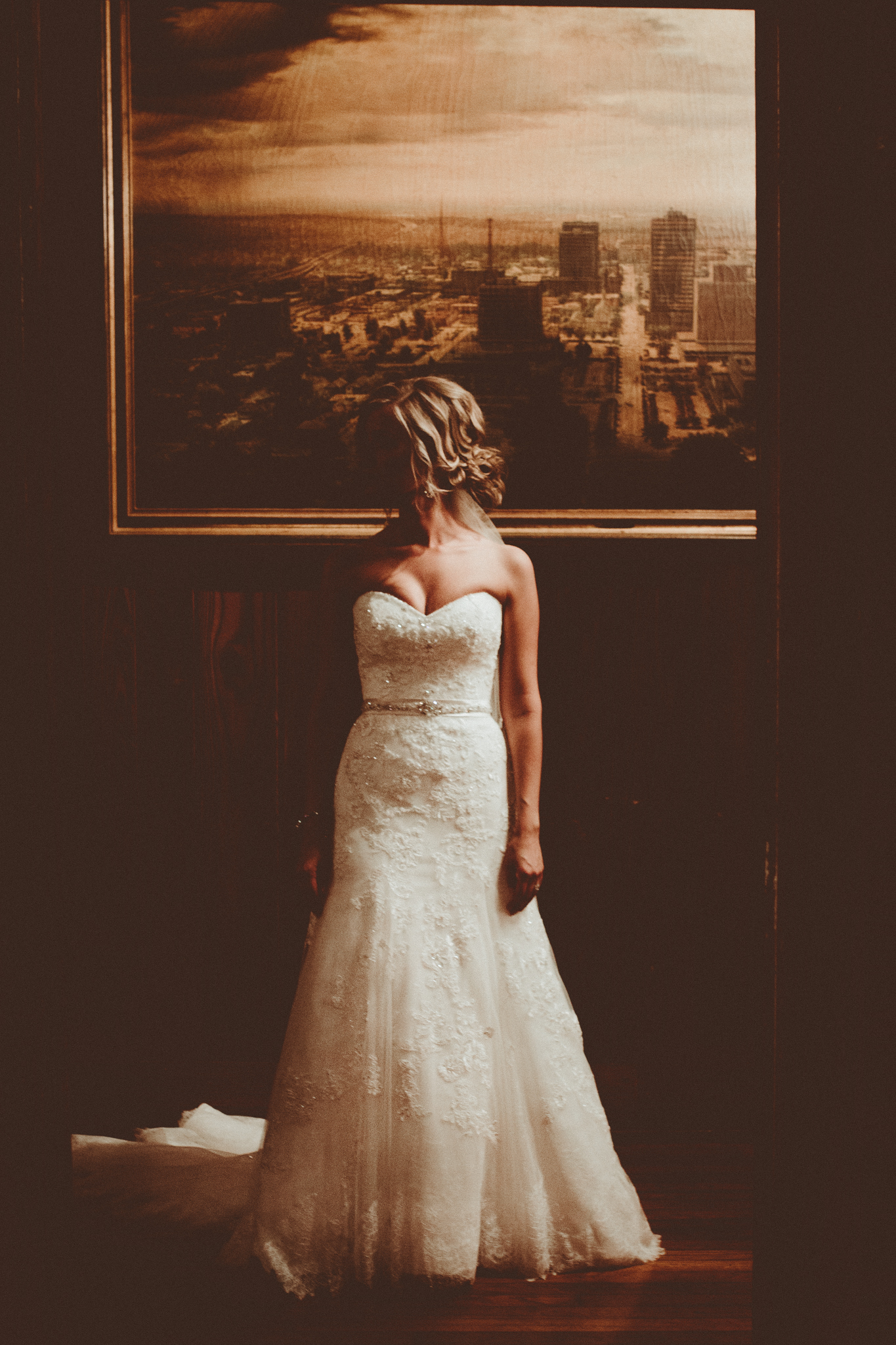 Non traditional moody and raw bridal portrait. Josh + Alora | Classic Denham Springs Wedding. Photos by Christi Childs with The Picture People LA photography Baton Rouge, Louisiana