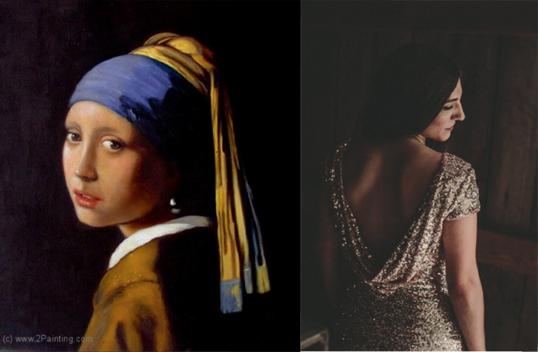 The girl with the pearl earring. Rembrandt. Oil on Canvas