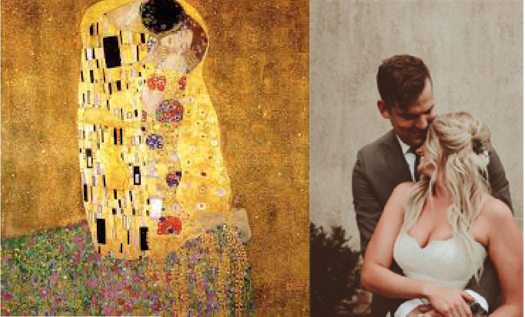 The Kiss. Gustav Klimt.1908. Vienna Secession, Oil + Gold Leaf