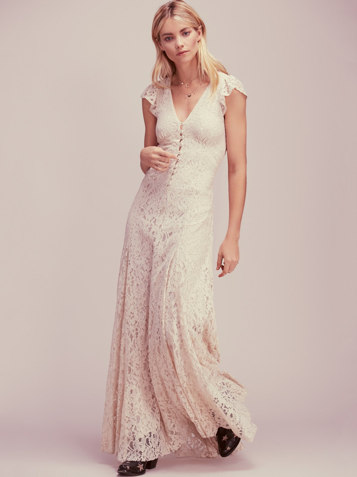elopement dress from free people under $500