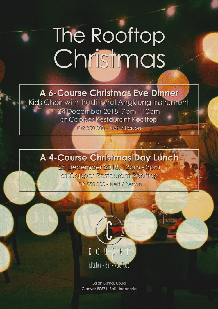 Christmas Dinner 24 December at 7 pm & Christmas Lunch 25 December at 12 pm