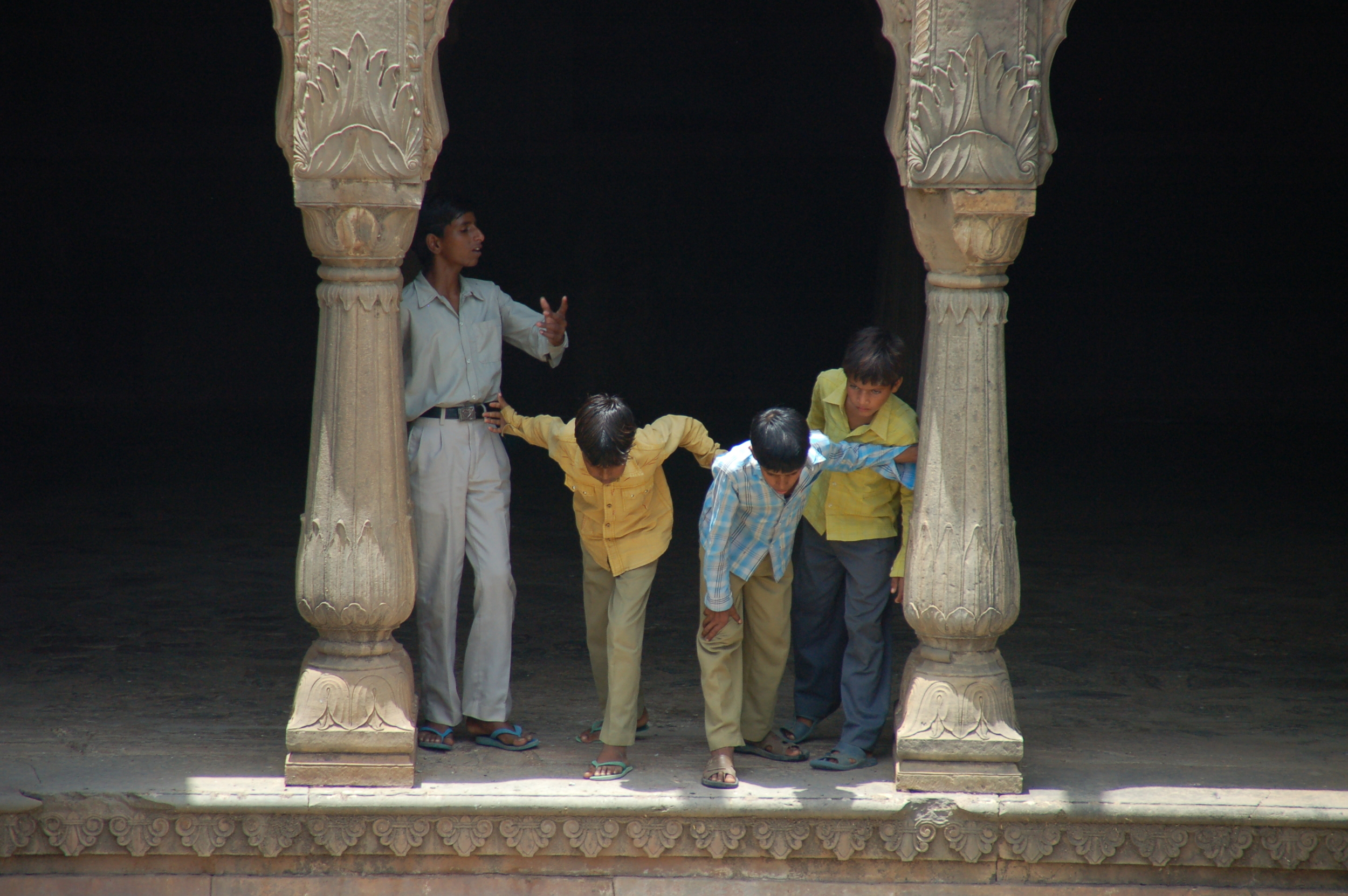 Little Boys at the Step Well