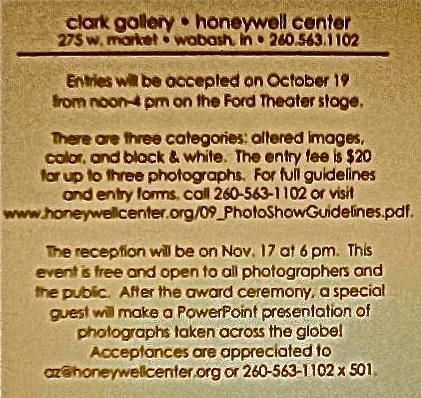 Clark Gallery Photo Show