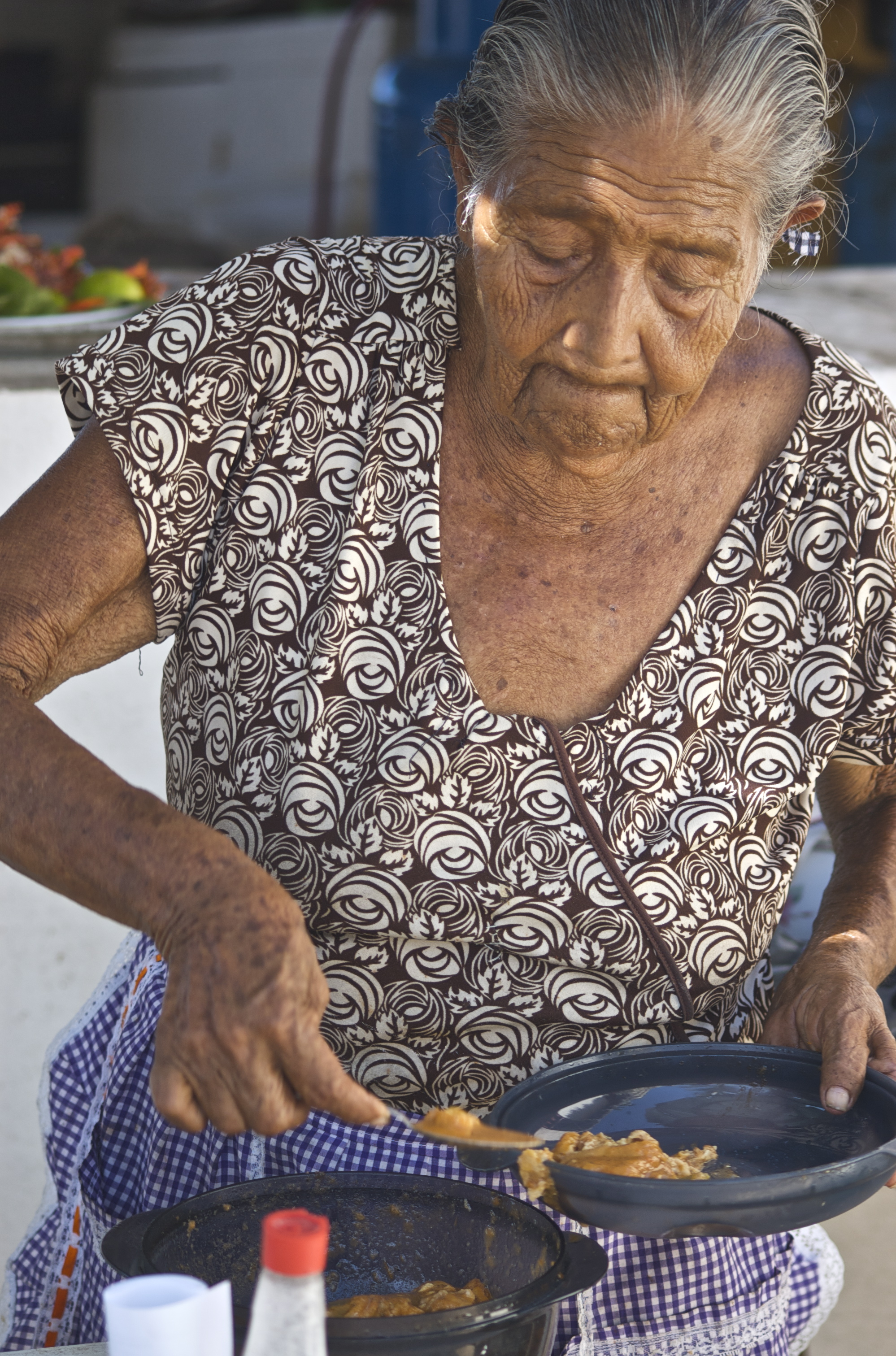Mexican woman cooking in Puerto Vallarta