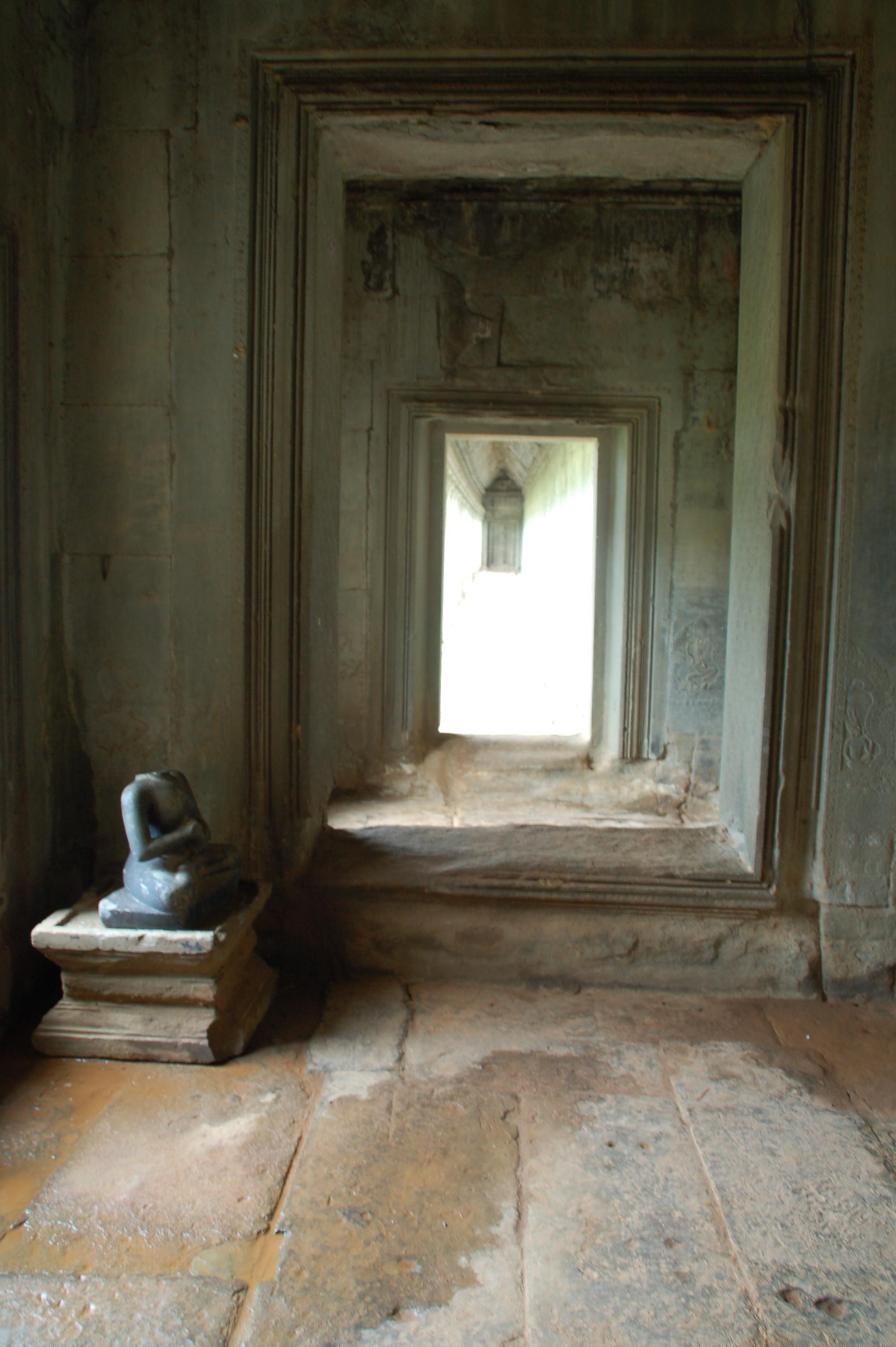 Angkor Wat Temple Hallway