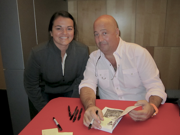 Andrew Zimmern and Lindsay Clark