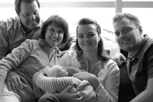 Family at hospital for Max's birth
