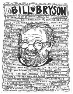 Bill Bryson caricature