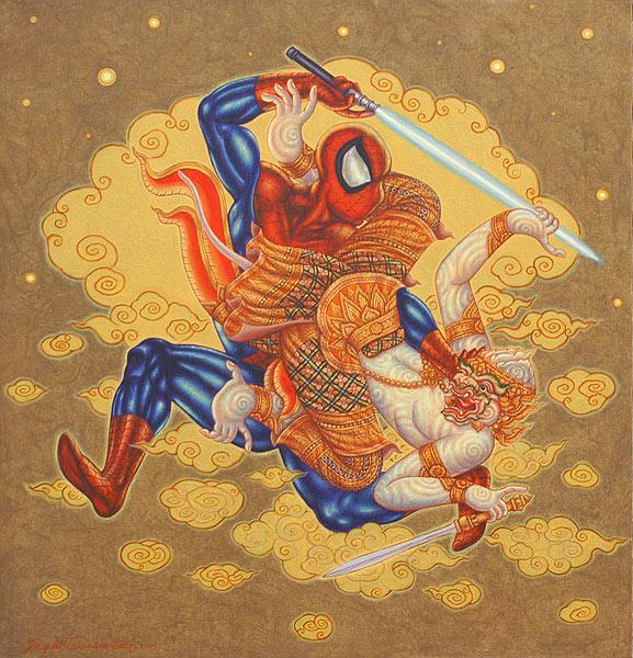 Jirapat Tatsanasomboon Spiderman painting
