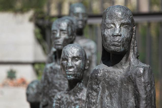 Finding a Jewish memorial while walking around Berlin