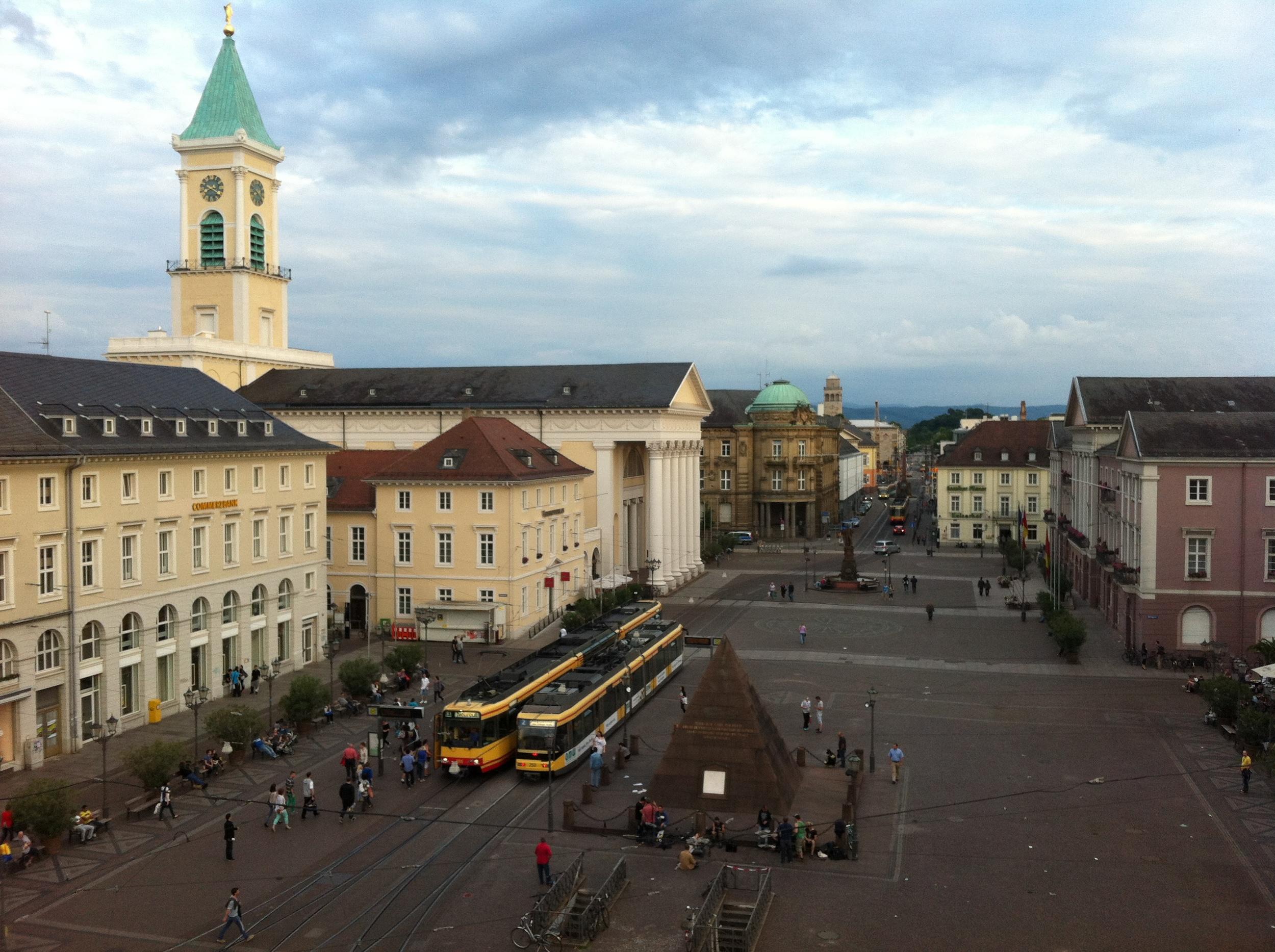 Marketplatz in Karlsruhe, Germany