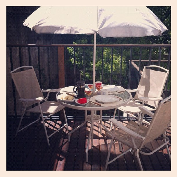 Brunch on the terrace in Recoleta, Buenos Aires, Argentina