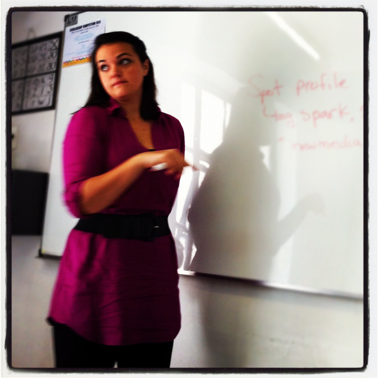 Lindsay teaching at THINK Global School, Buenos Aires, classroom