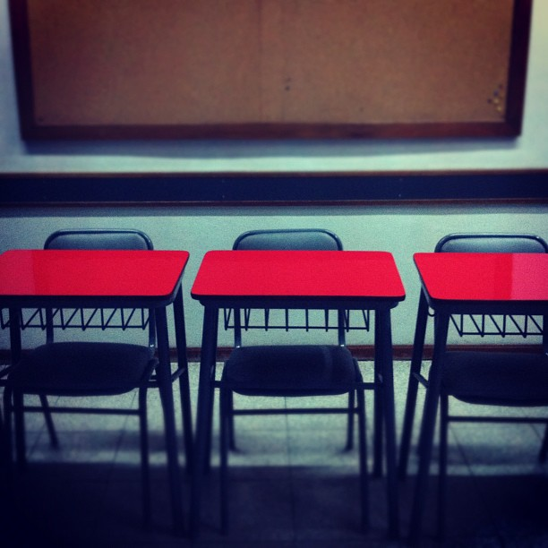 Empty classroom from Buenos Aires, Argentina, TGS