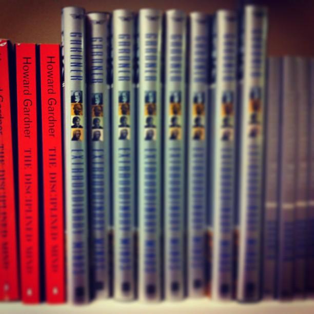 Howard Gardner's bookshelf in his office