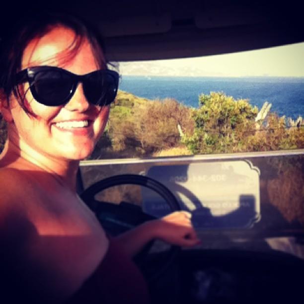 Golf-carting Water Island in the US Virgin Islands