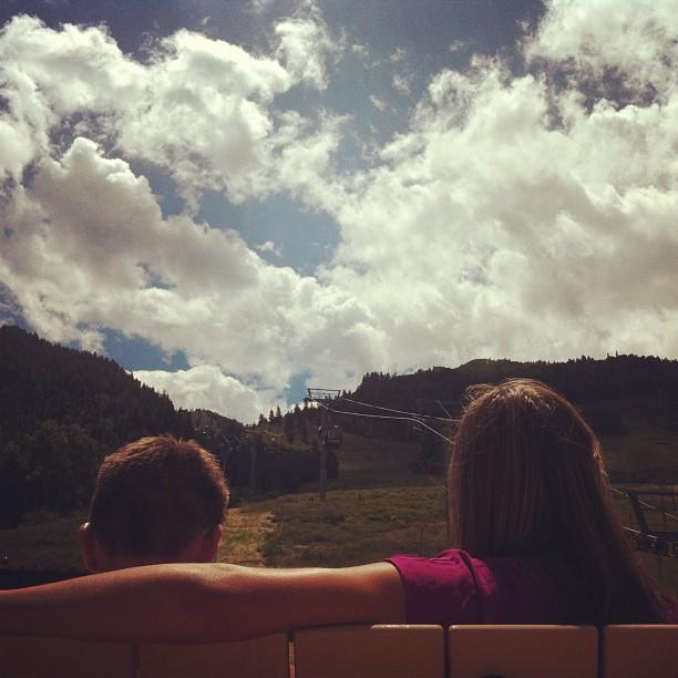 Garrett and Alexis in Aspen, Colorado