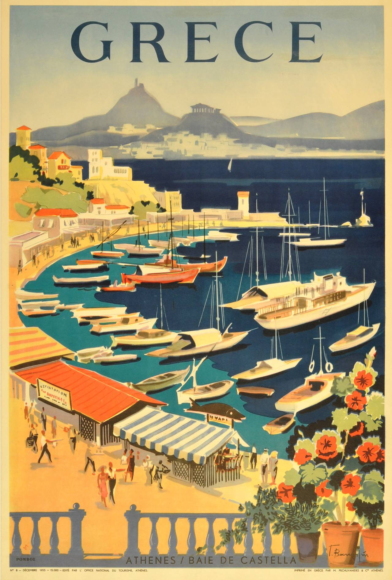 Greece, vintage travel poster