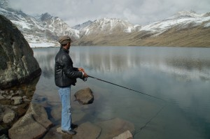 Fishing at high altitude