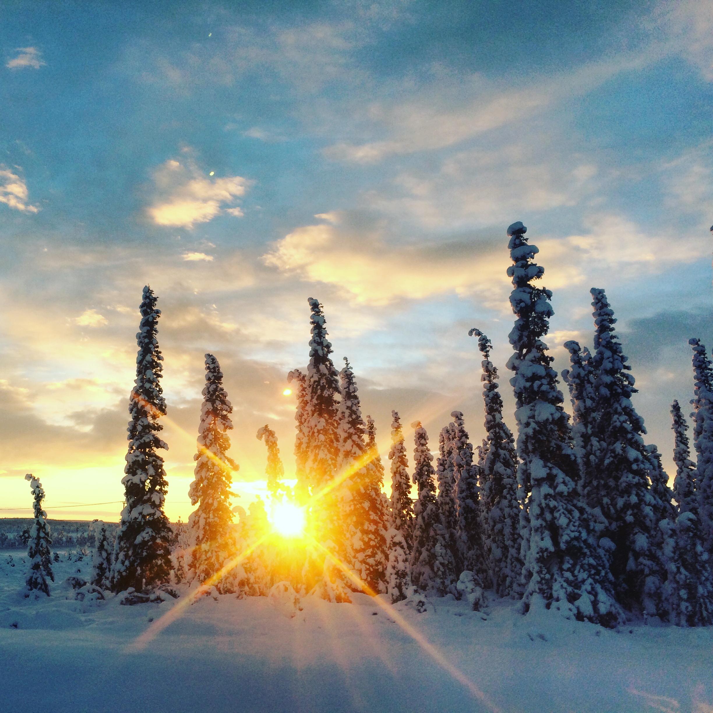 The 10:30am sunset of Kiruna, Sweden