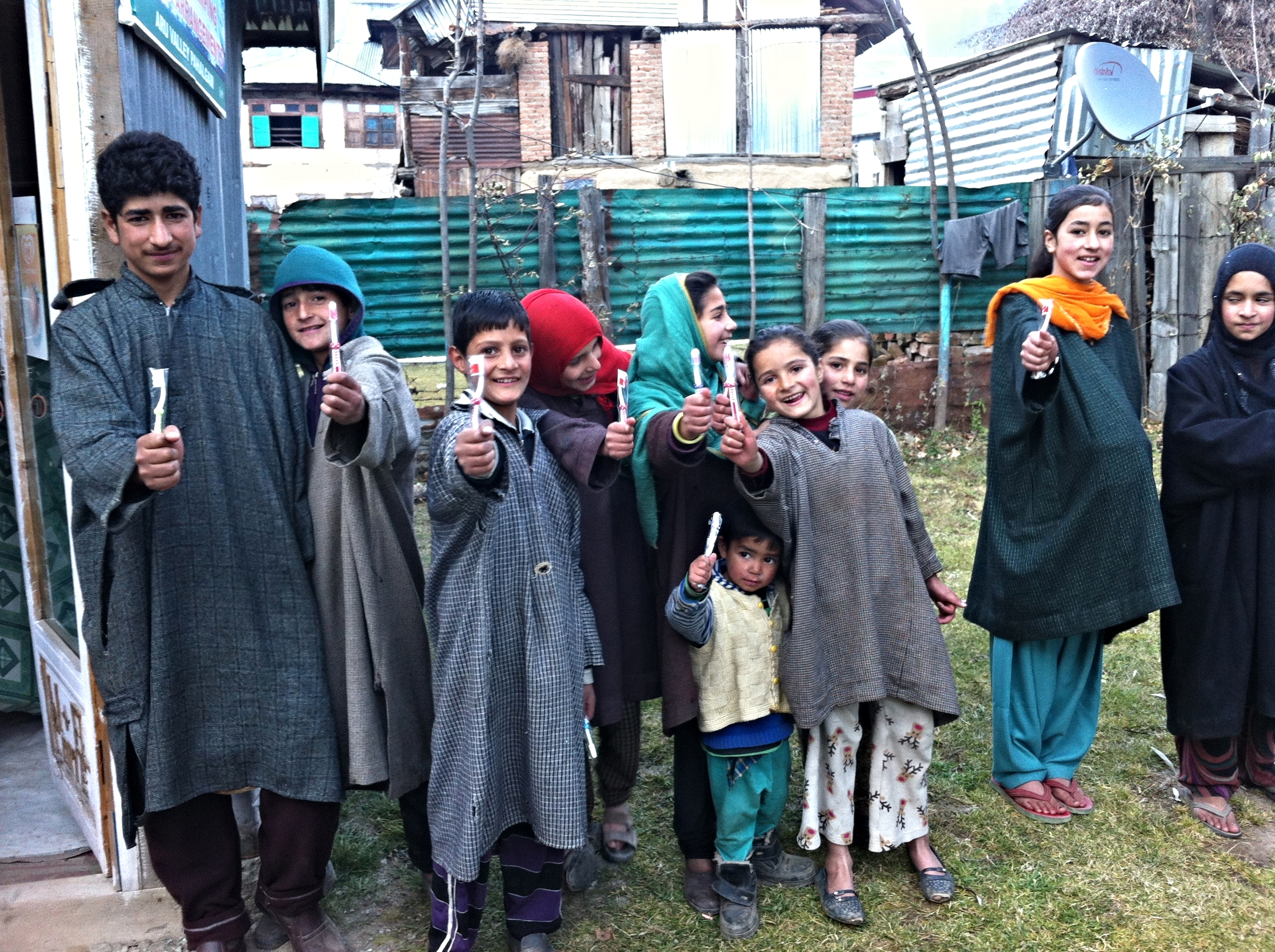 32. Return to Kashmir (toothbrushes donated by my dentist)