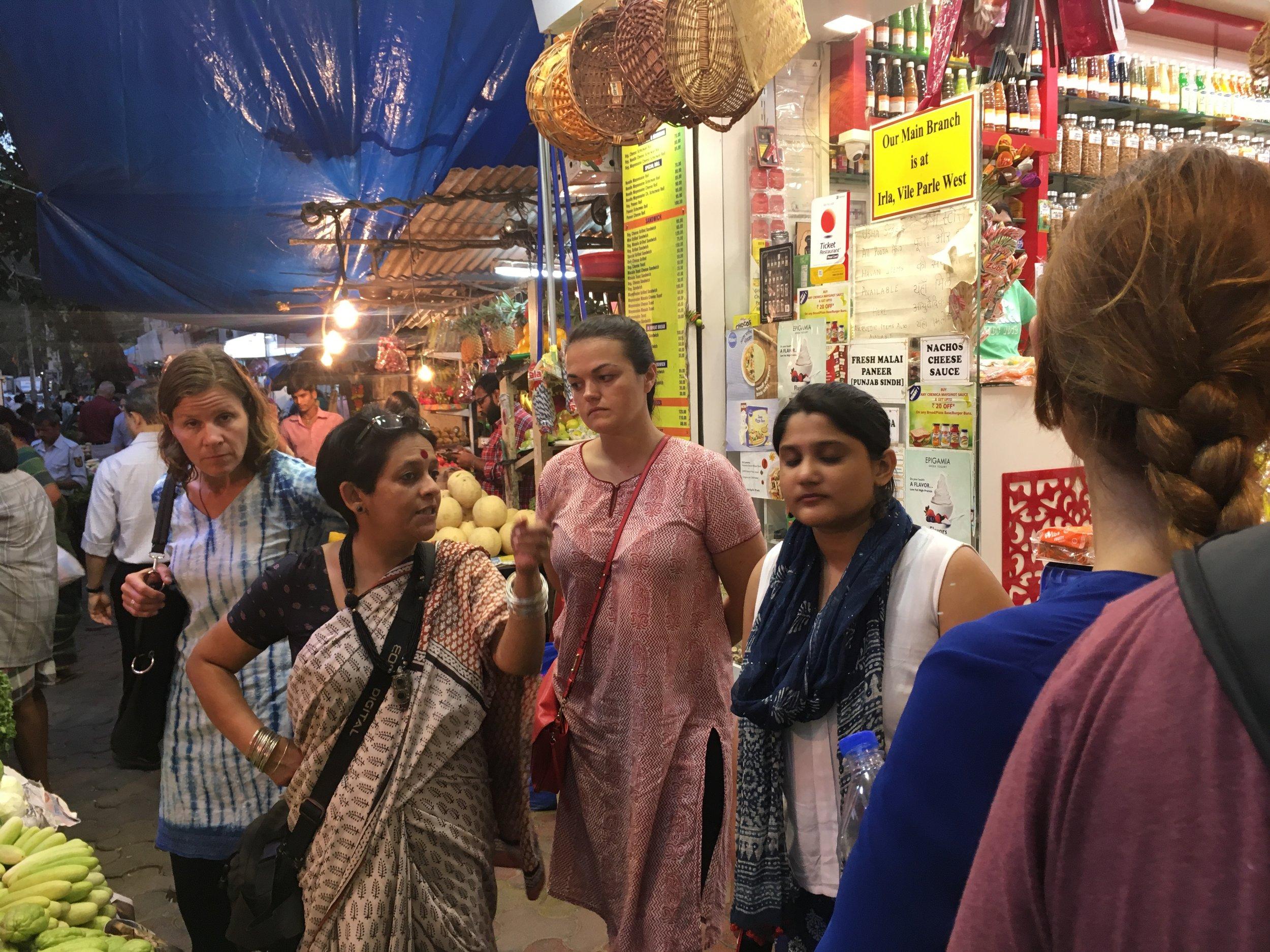 Visiting a market with local expert Deepa Krishnan