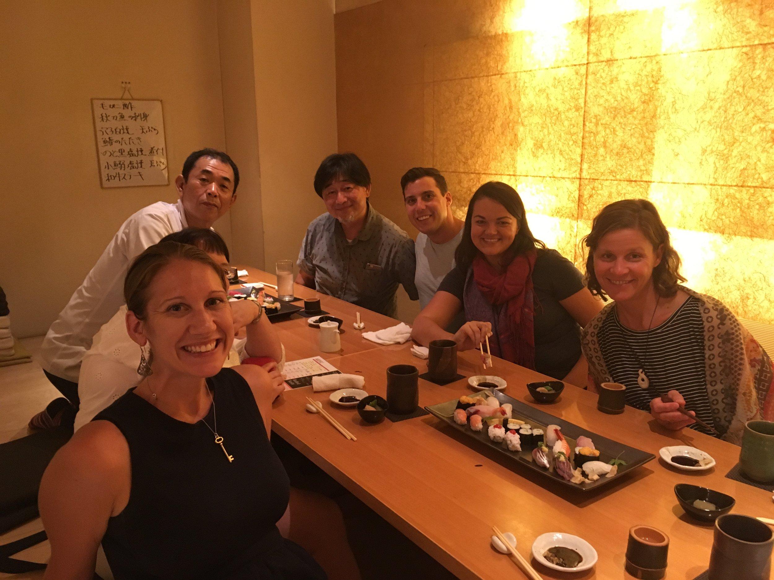 Learning about sushi making with Kobayashi-san