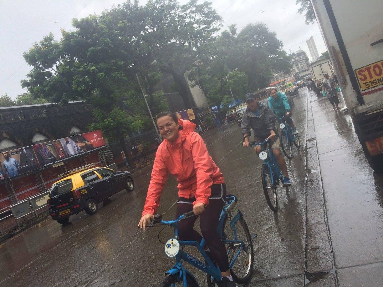 Taking a bike tour on my birthday during a monsoon in Mumbai