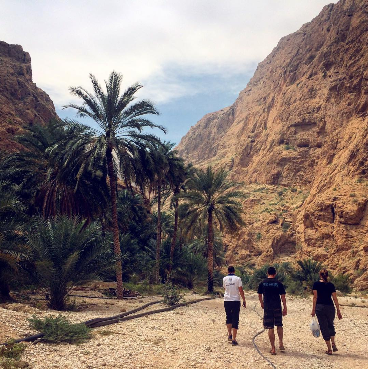 Walking through a wadi to the magical treasures within