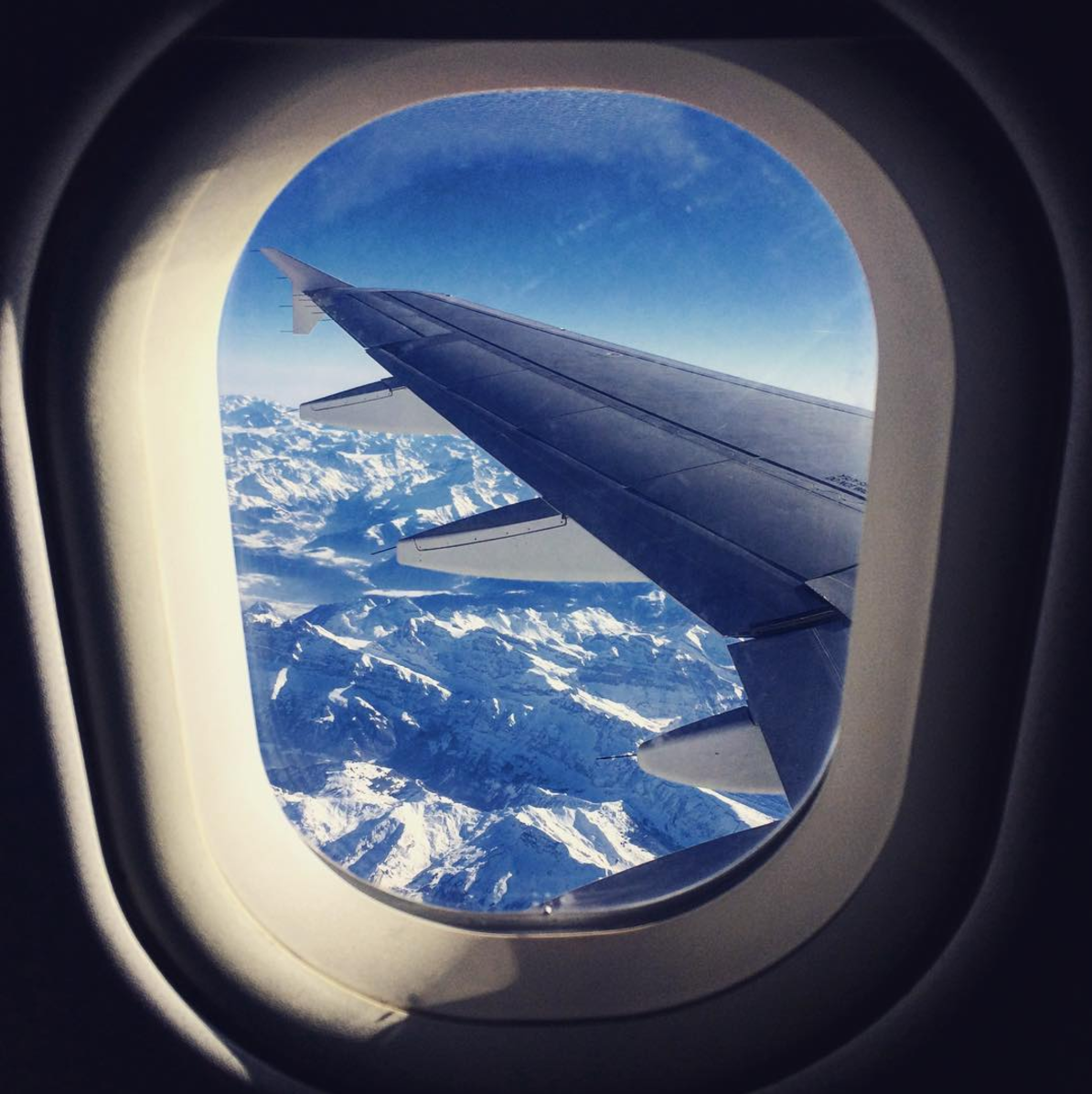 Checking out the Alps from above