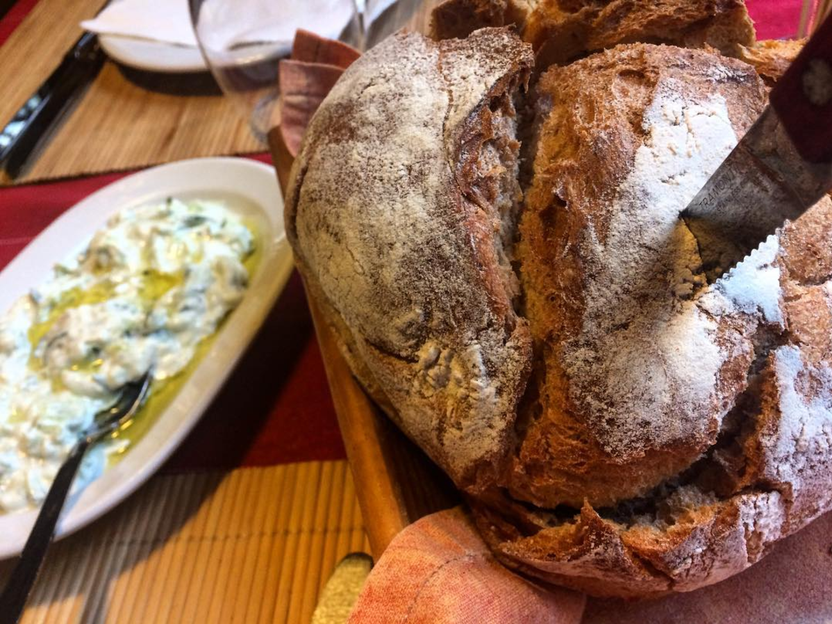 The most glorious taverna in Athens with fresh, homemade bread