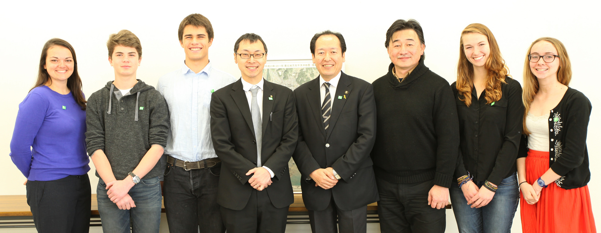 With the Mayor of Rikuzentakata during the filming of Roots of Hope