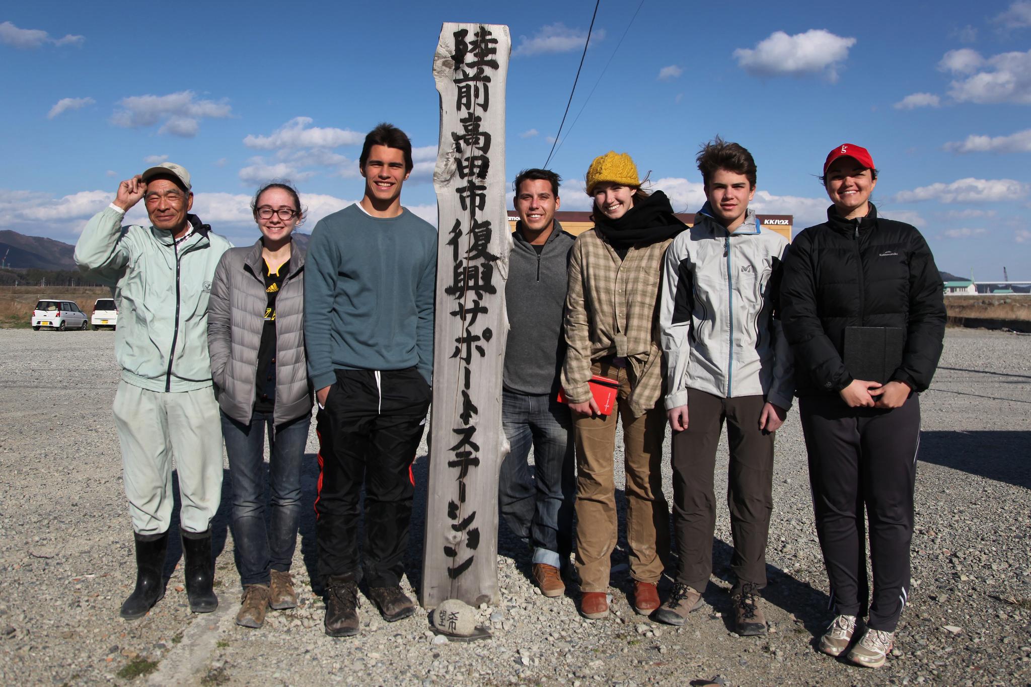 With Team Tohoku in Rikuzentakata