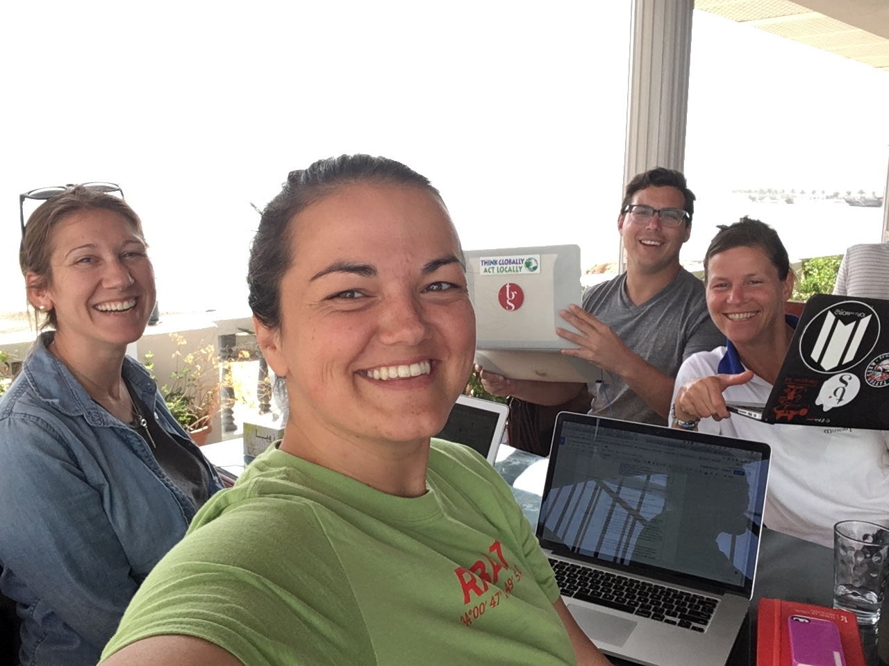 Writing curriculum with the team in Oman
