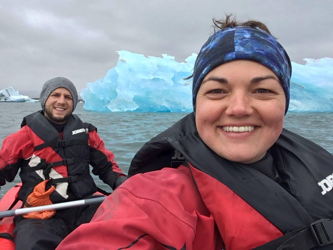 My last international trip before arriving in Denver, kayaking around icebergs in Iceland with colleague/friend Matt Cook
