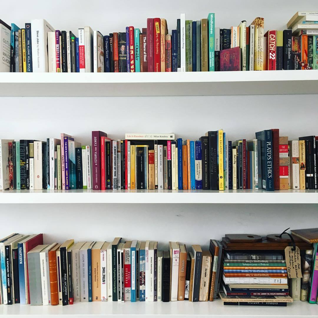 The bookshelf I stared at while deep in revision mode in Athens, Greece this April