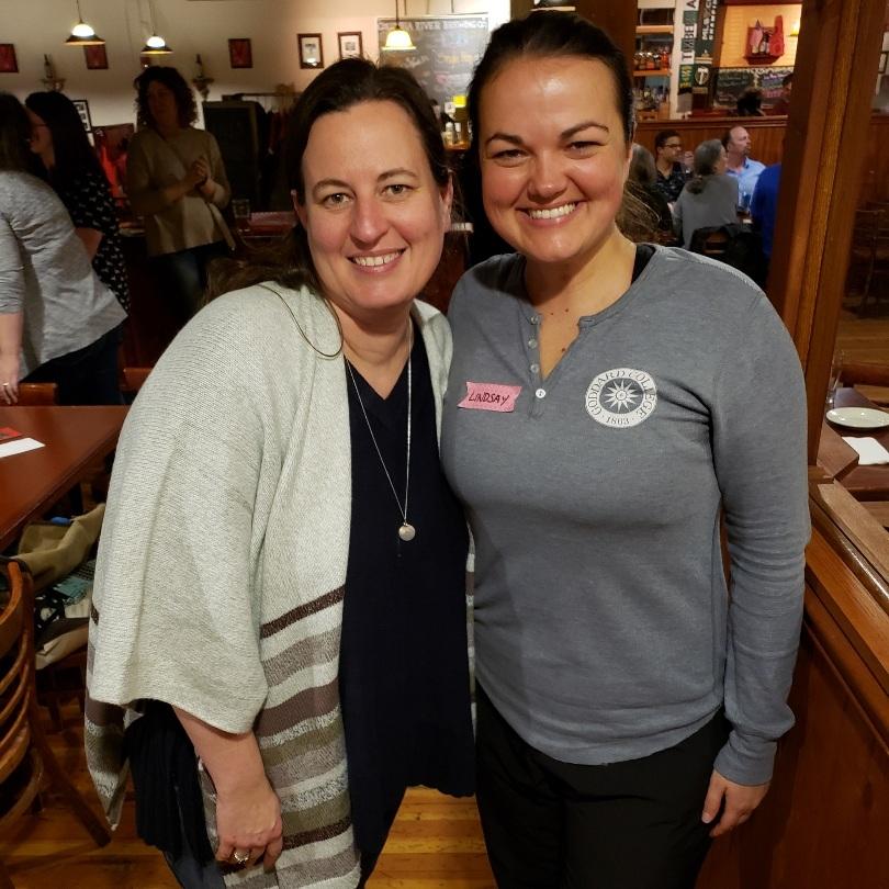Diana+and+Lindsay+at+the+Goddard+reception+at+AWP19