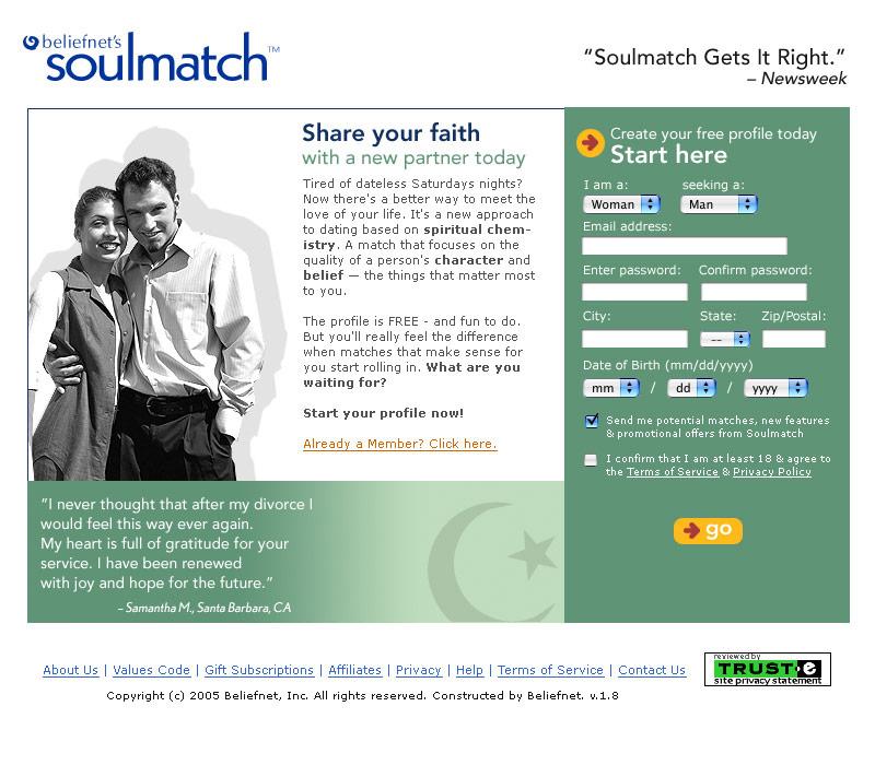 Beliefnet's Soulmatch